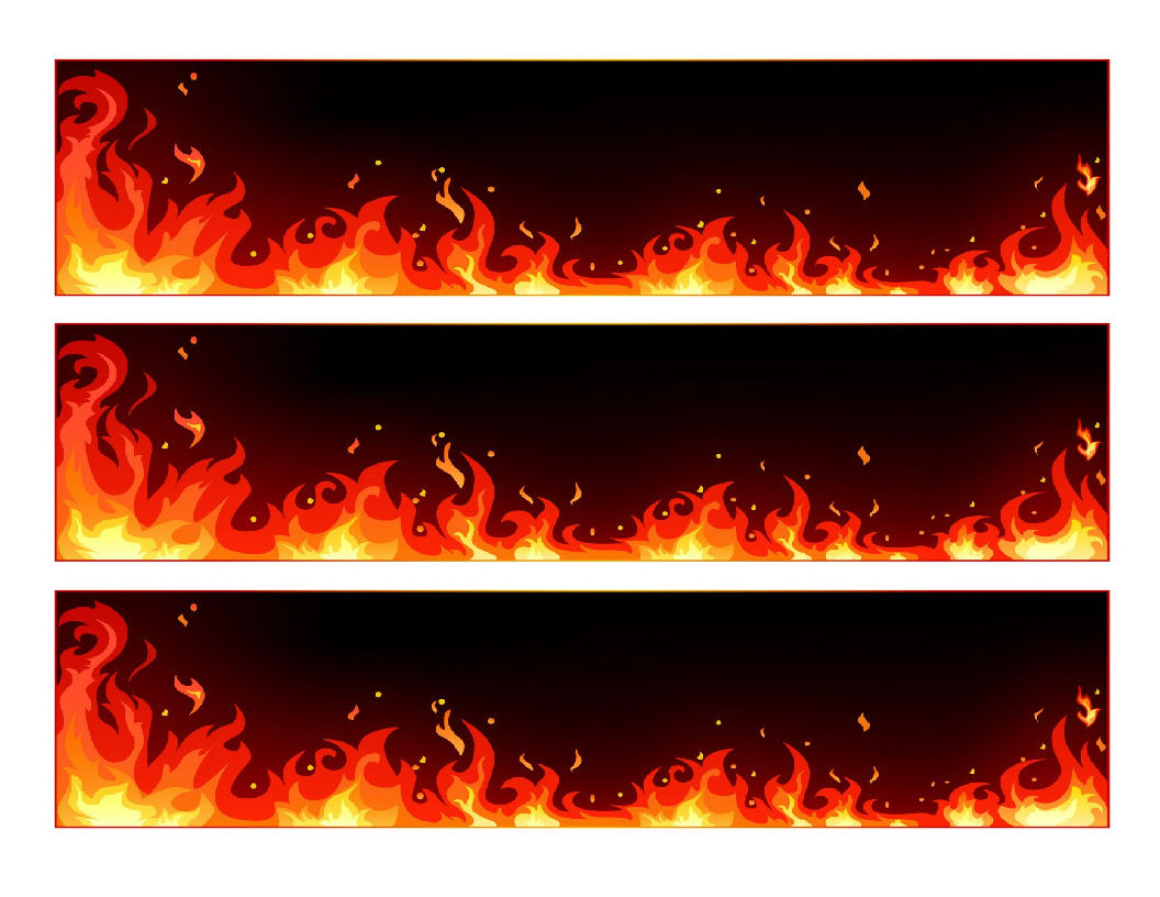 Flames Edible Cake Strips - Cake Wraps - Cakes For Cures