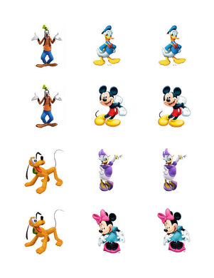 Mickey Mouse Clubhouse Edible Cupcake Images - Cupcake Toppers - Cakes For Cures