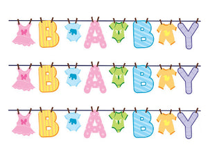 Baby Shower Edible Cake Strips - Cake Wraps - Cakes For Cures