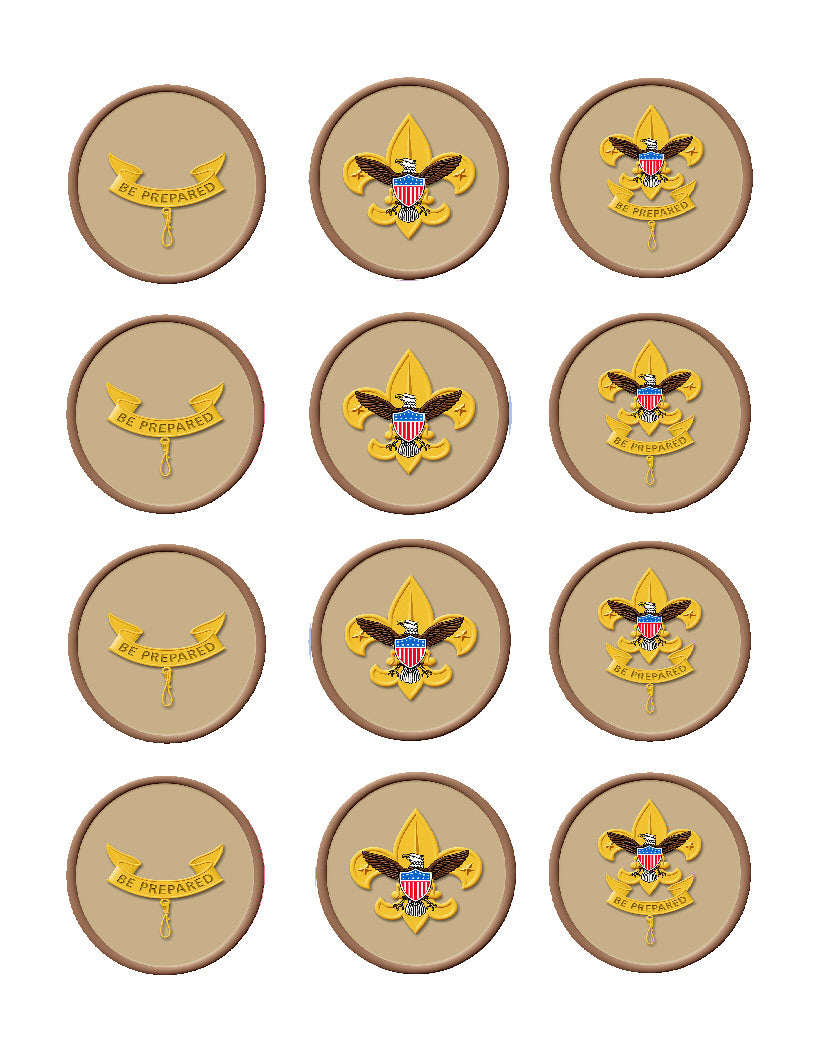 Boy Scout Edible Cupcake Toppers - Cakes For Cures