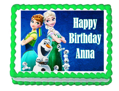 Frozen Fever Edible Cake Image Cake Topper - Cakes For Cures