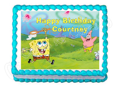 Spongebob and Patrick Edible Cake Image Cake Topper - Cakes For Cures