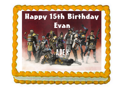 Apex Gaming Edible Cake Image Cake Topper - Cakes For Cures