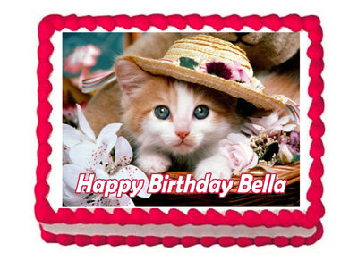 Kitten Cat Edible Cake Image Cake Topper - Cakes For Cures