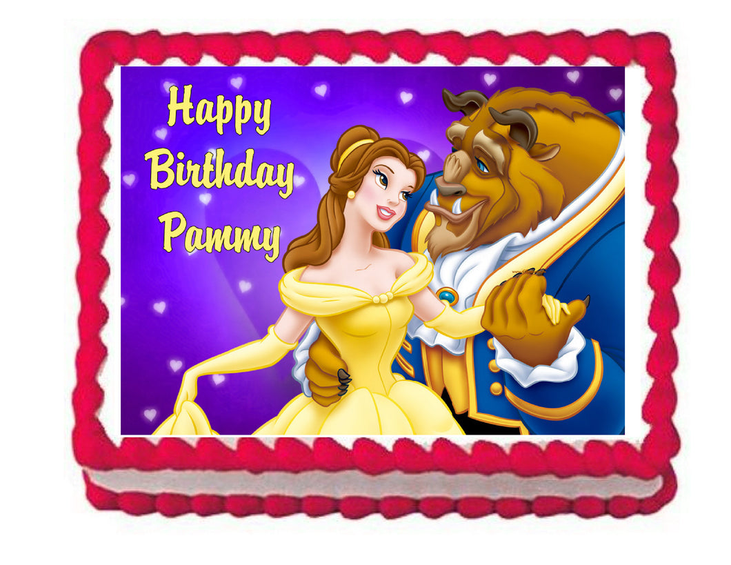 Beauty and the Beast Edible Cake Image Cake Topper - Cakes For Cures