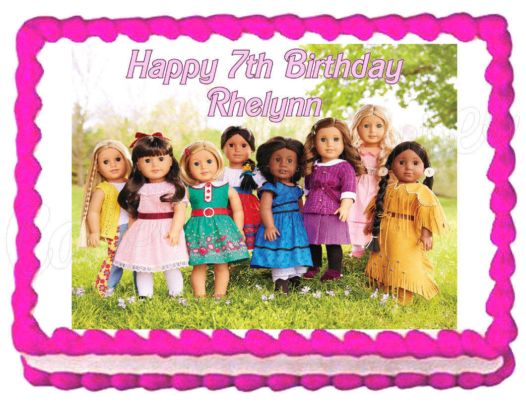 American Girl Group Edible Cake Image Cake Topper - Cakes For Cures