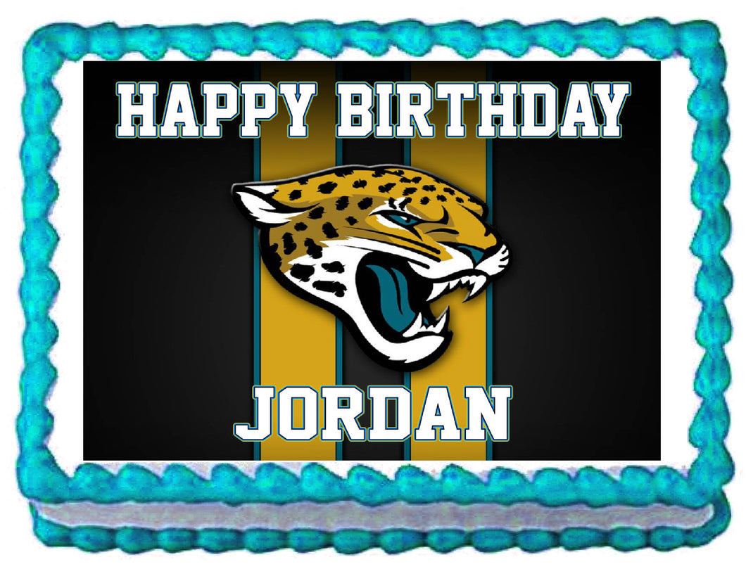 Jacksonville Jaguars Football Edible Cake Image Cake Topper - Cakes For Cures