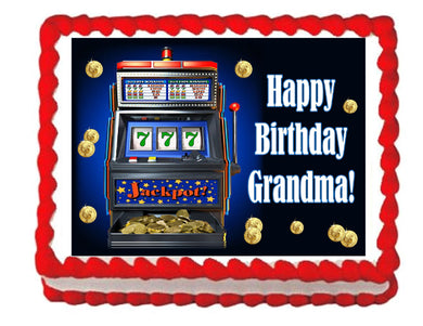 Slot Machine Edible Cake Image Cake Topper - Cakes For Cures