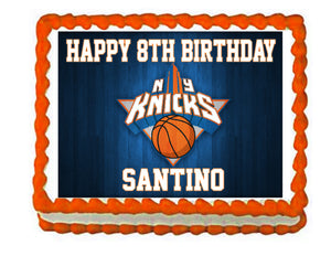 NY Knicks Basketball Edible Cake Image Cake Topper - Cakes For Cures