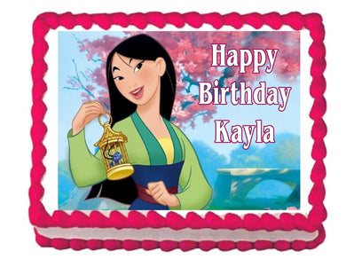 Mulan Edible Cake Image Cake Topper Decoration princess - Cakes For Cures