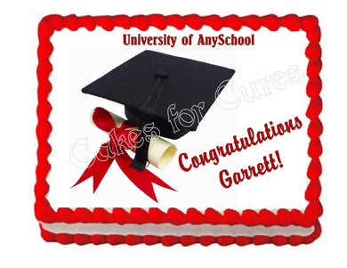Graduation Edible Cake Image Cake Topper - Cakes For Cures