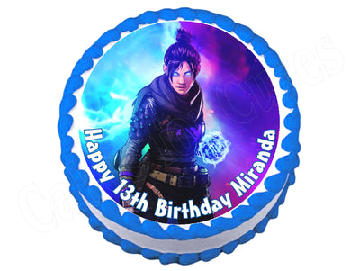 Apex Wraith Gaming Round Edible Cake Image Topper - Cakes For Cures