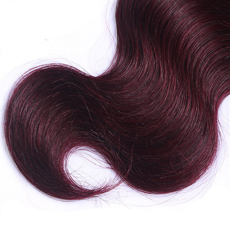 Ombre Brazilian Hair Weave Bundles Two Tone 1b Burgundyred 99j Body