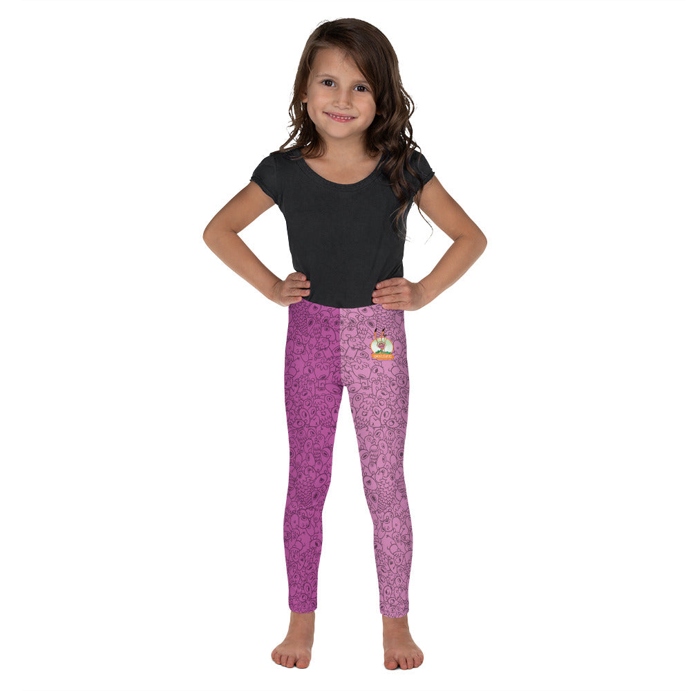 Pink one-eyed Pinecones - Kid's Design Leggings