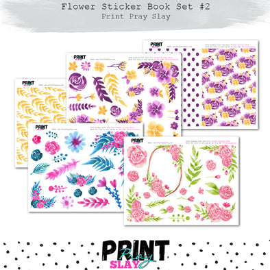 Flower Sticker Book Set #2