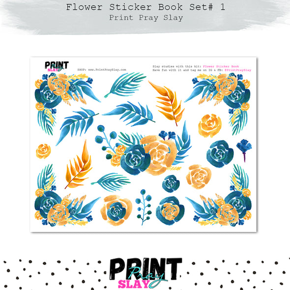 Flower Sticker Book Set #1