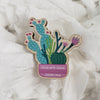 Stick With Jesus Cacti Wooden Pin