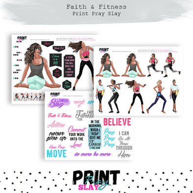 Faith and Fitness Wake Pray Slay Dolls DP
