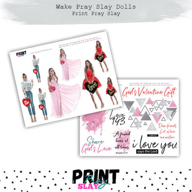 Valentines Day Wake Pray Slay Dolls MD