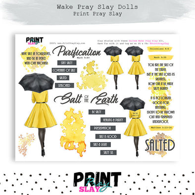Salted Wake Pray Slay Doll