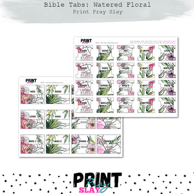 Bible Tabs: Watered Florals (10 pgs)