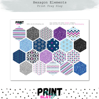 Winter Hexagons