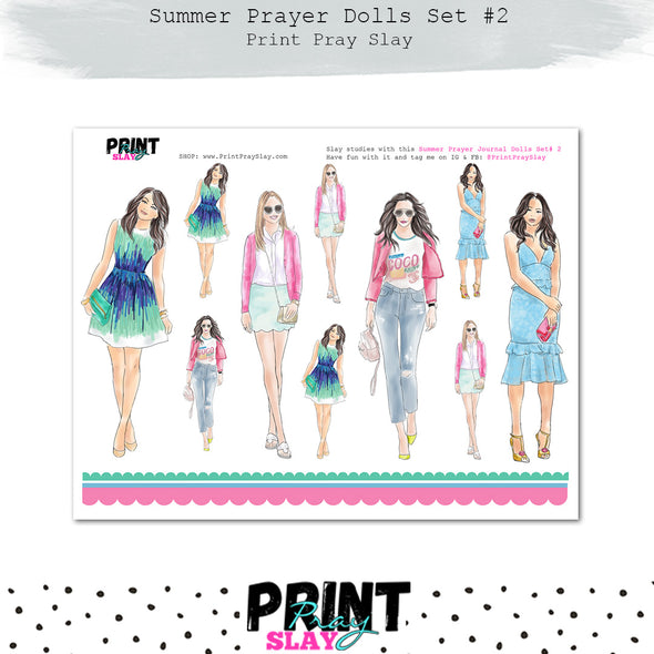 WPS Summer Prayer Journal Dolls Set #2