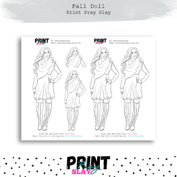 Fall Doll Coloring Page