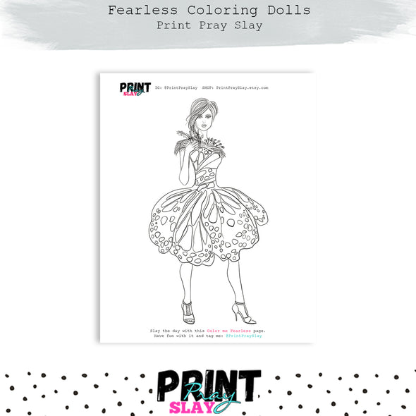 Fearless Doll Coloring Page