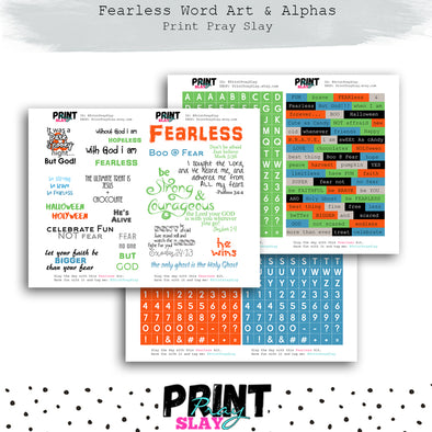 Fearless Word Art & Alphas