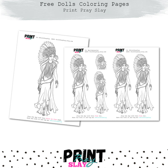 Free Coloring Exclusive Doll