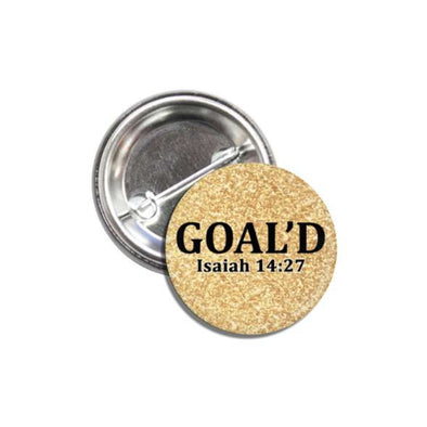 GOAL'D Pin Back Button