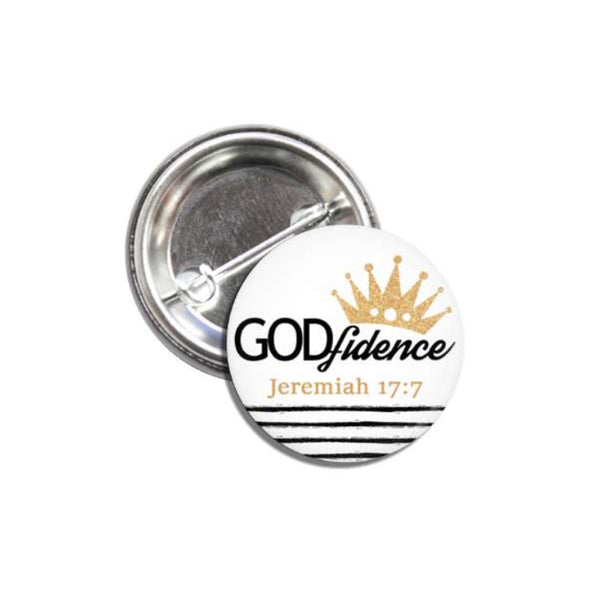 GODfidence Pin Back Button