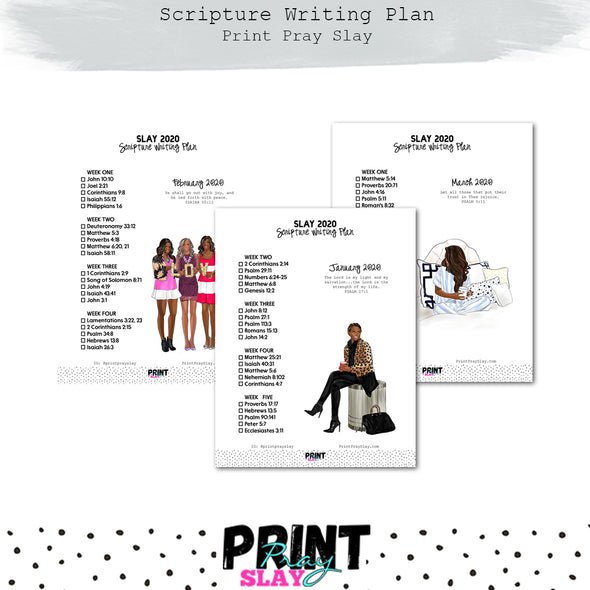 2020 Scripture Writing Plan (16 pages) DP