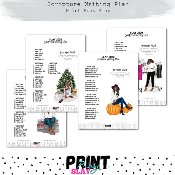 2020 Scripture Writing Plan (17 pages) DP