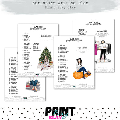 2020 Scripture Writing Plan (17 pages) LT