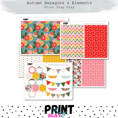 Autumn Hexagons & More