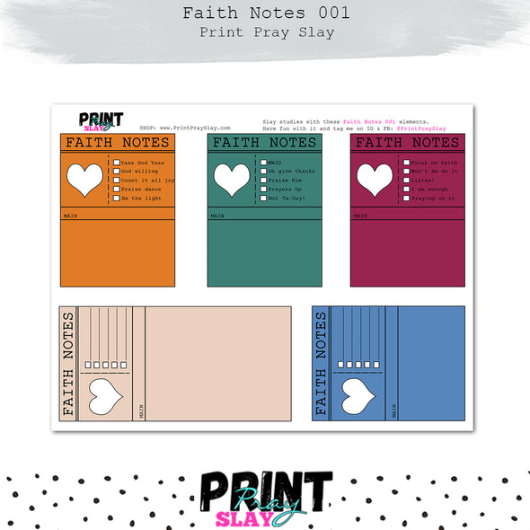 Faith Notes 1 Journaling Cards