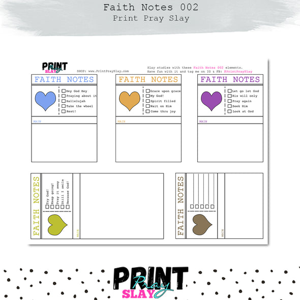 Faith Notes 2 Journaling Cards