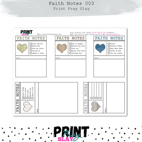 Faith Notes 3 Journaling Cards