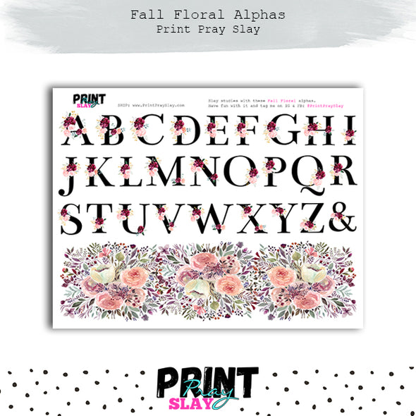 Alphas - Fall Floral Kit
