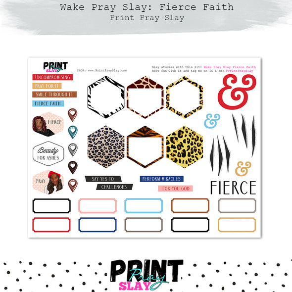 Fierce Faith Wake Pray Slay Dolls DP