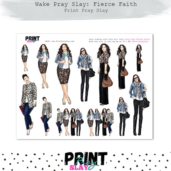 Fierce Faith Wake Pray Slay Dolls LT