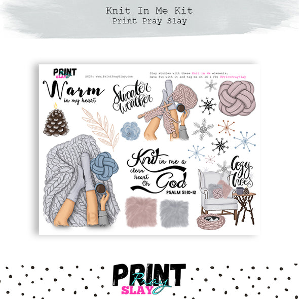 Knit In Me Kit LT Brunette