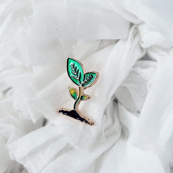Growing Leaf Enamel Pin