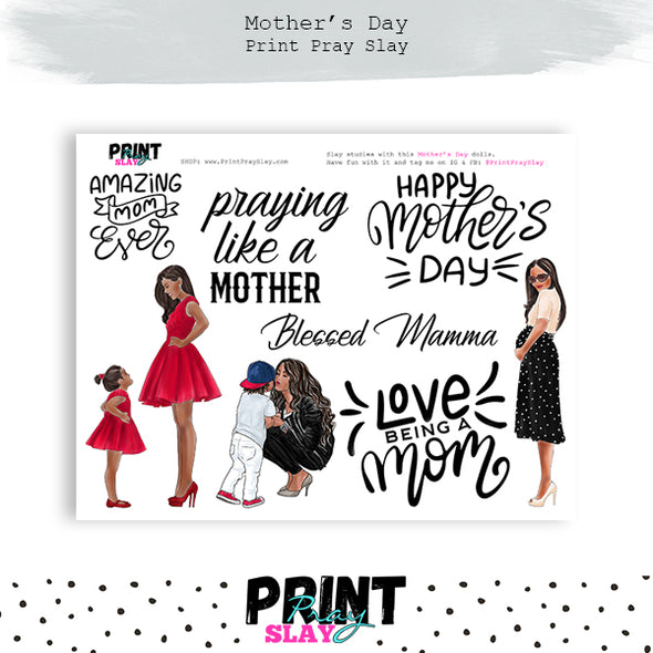 Mother's Day Wake Pray Slay Dolls DP