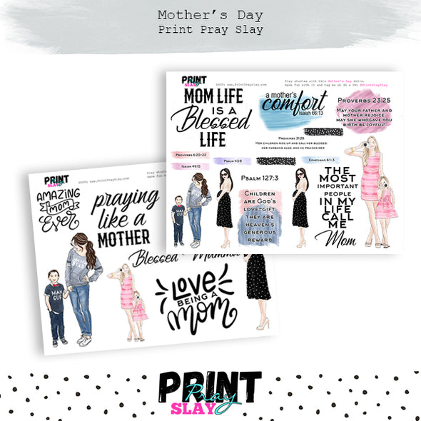 Mother's Day Wake Pray Slay Dolls LT