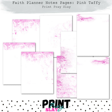 Faith Planner Notes - Pink Taffy (7 pgs)