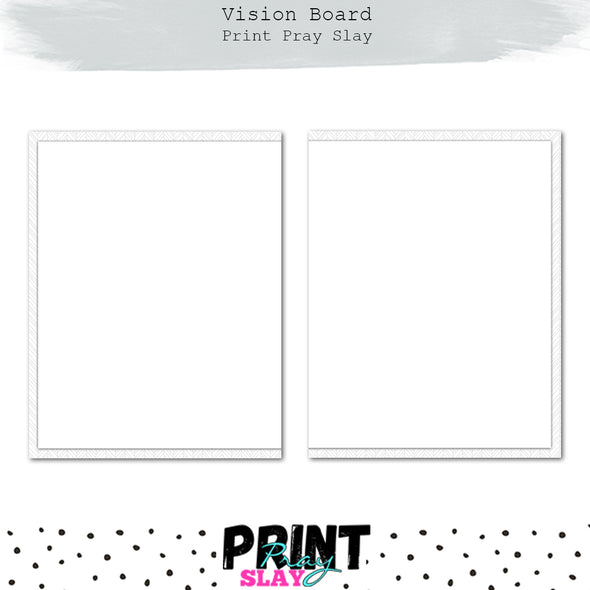 Vision Board Planner Inserts