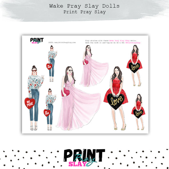 Valentines Day Wake Pray Slay Dolls LT